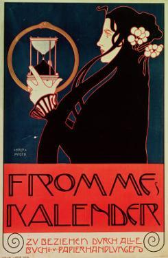 Design for the Frommes Calendar, for the 14th Exhibition of the Vienna Secession, 1902 by Koloman Moser