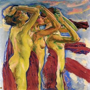 Three Nudes by Koloman Moser