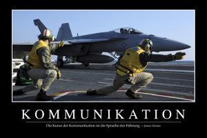 Kommunikation: Motivationsposter Mit Inspirierendem Zitat