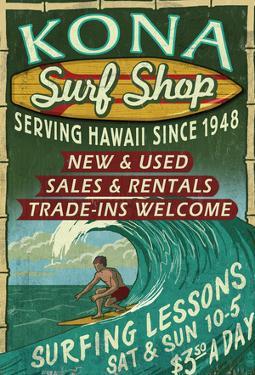 Kona, Hawaii - Surf Shop