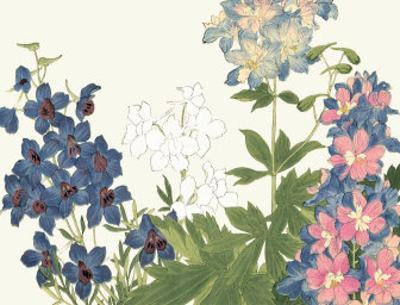 Japanese Flower Garden III by Konan Tanigami