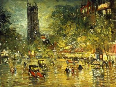 Parisian Street Scene by Konstantin A. Korovin