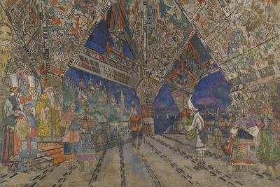 Stage Design for the Opera the Golden Cockerel by N. Rimsky-Korsakov
