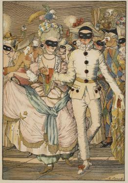 Bal Masque, 1918 by Konstantin Andreevic Somov