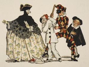 Comedie Italienne, 1918 by Konstantin Andreevic Somov