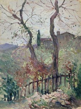 Perugia, Umbria, 1894 (Oil on Board) by Konstantin Andreevic Somov