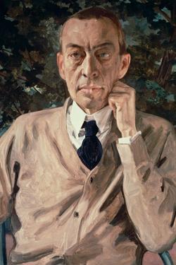 Portrait of the Composer, Sergei Vasilievich Rachmaninov (1873-1943) 1925 by Konstantin Andreevic Somov