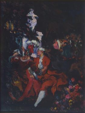 Harlequins, 1913 by Konstantin Andreyevich Somov