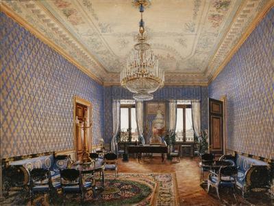 Interiors of the Winter Palace, the Drawing-Room of Grand Princess Maria Nikolayevna, 1837
