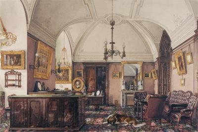 Interiors of the Winter Palace, the Study of Grand Prince Nicholas Nicolaievich, 1856