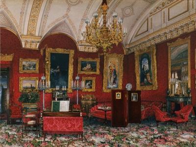 Interiors of the Winter Palace, the Study of Grand Princess Maria Nikolayevna, End of 19th C