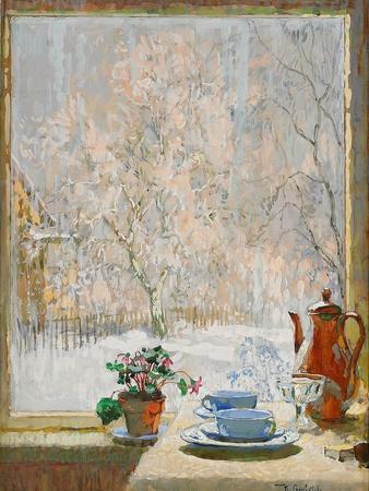 Through the Window in Winter, 1945