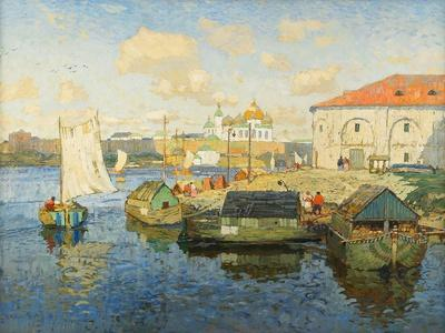 Town on the Volga River, 1913