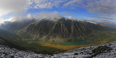 View To River Naryn-Gol Gorge At Chikhacheva Range, Mount Boguty Area, Altai Mountains