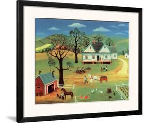 Chores on the Farm by Konstantine Rodko