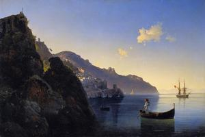 A View of the Amalfi Bay, 1841 by Konstantinovich Ivan Aivazovsky