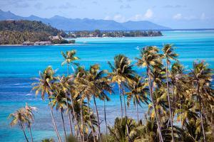Azure Lagoon of Island Borabora Polynesia. by Konstik
