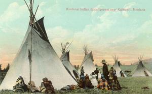 Kootenai Encampment near Kalispell, Montana