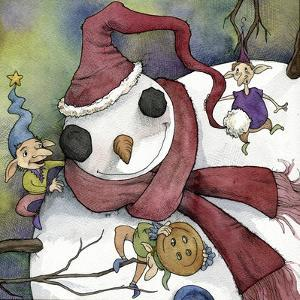 Snowman and Elves by Kory Fluckiger