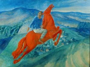 Phantasy (Equestrian), 1925 by Kosjma Ssergej Petroff-Wodkin