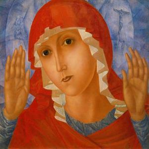 The Mother of God: 'The Tenderness of Cruel Hearts', C. 1912 by Kosjma Ssergej Petroff-Wodkin