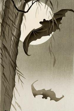 Flying Bats by Koson Ohara