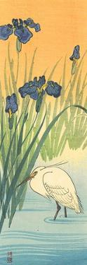 Iris and Egret by Koson Ohara