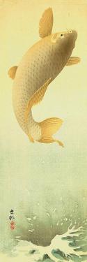 Leaping Carp by Koson Ohara
