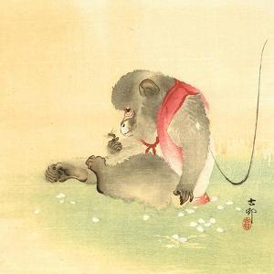 Monkey and Bee by Koson Ohara
