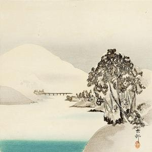 Snow Covered Mountain by Koson Ohara