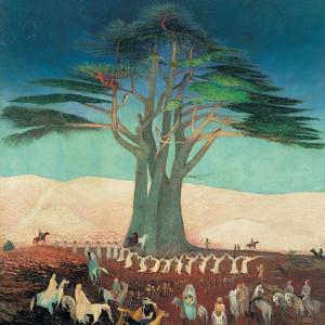 Pilgrimage To the Cedars of Lebanon by Kosztka Tivadar Csontváry