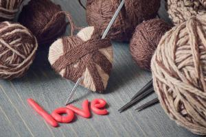 Still Life Of Balls Of Yarn And The Word Love by Kotenko