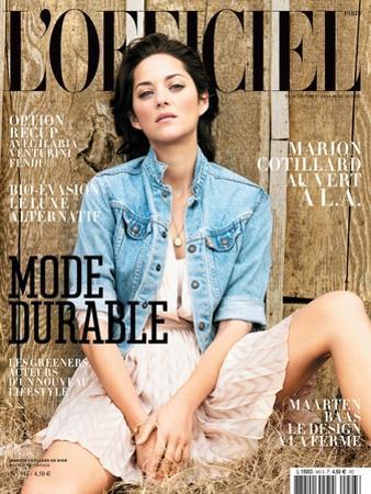 L'Officiel, March 2010 - Marion Cotillard Porte une Robe en Soie, Dior by Koto Bolofo