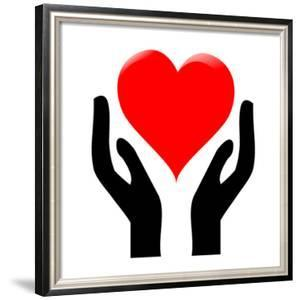 Hands Holding The Heart #1 by kots