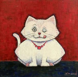 White Cat by Kourosh
