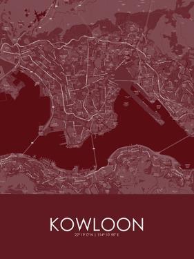 Kowloon, Hong Kong, Special Administrative Region of China Red Map