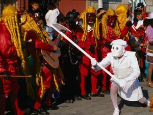 Dance of 24 Devils at Festival of Immaculate Conception, Ciudad Vieja, Guatemala by Kraig Lieb