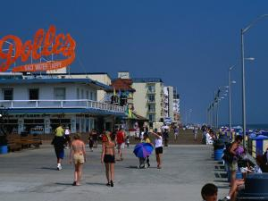 People on Rehoboth Beach Boardwalk by Kraig Lieb