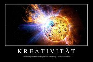 Kreativität: Motivationsposter Mit Inspirierendem Zitat