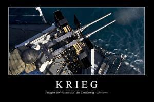Krieg: Motivationsposter Mit Inspirierendem Zitat