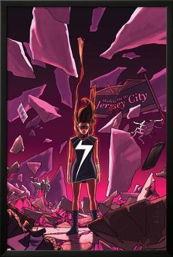 Ms. Marvel #16 Cover Featuring Ms. Marvel (Kamala Khan) by Kris Anka