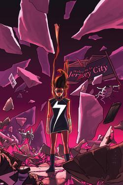 Ms. Marvel #16 Cover Featuring Ms. Marvel (Kamala Khan) by Kris Anka