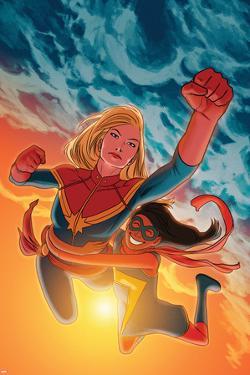 Ms. Marvel #17 Featuring Ms. Marvel, Captain Marvel by Kris Anka