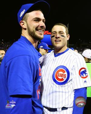 Kris Bryant & Anthony Rizzo celebrate winning Game 6 of the 2016 NLCS