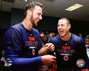 Kris Bryant & Anthony Rizzo celebrate winning the 2015 National League Wild Card Game