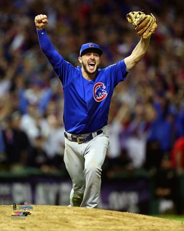 Kris Bryant celebrates the final out of Game 7 of the 2016 World Series
