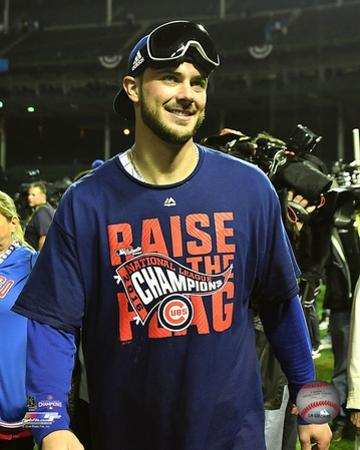 Kris Bryant celebrates winning Game 6 of the 2016 National League Championship Series