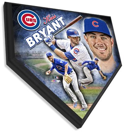 Kris Bryant Home Plate Plaque