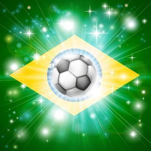 Brazil Soccer Flag by Krisdog