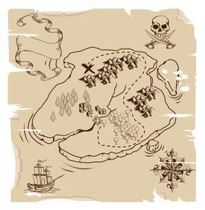 Ye Olde Pirate Treasure Map by Krisdog
